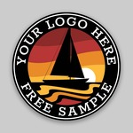 FREE CUSTOM SAMPLE - 4 INCH CIRCLE STICKER
