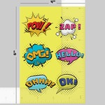 4 x 6 INCH STICKER SHEET
