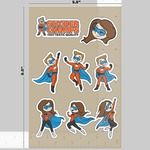 5.5 x 8.5 INCH STICKER SHEET